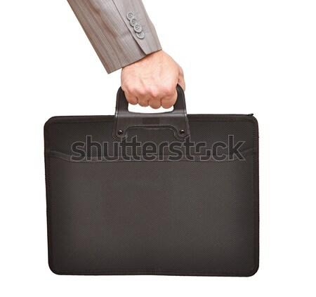 Close-up of businessman hand holding with briefcase Stock photo © inxti