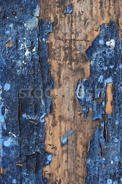 Obsolete weathered cracked painted wood grunge background  Stock photo © inxti