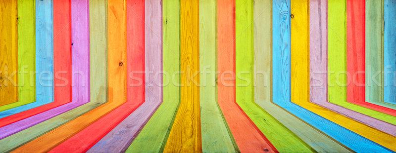 Foto stock: Colorido · madera · pared · textura · diseno
