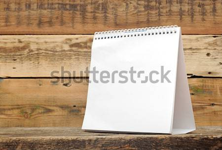 insert your own design on this blank calendar  Stock photo © inxti