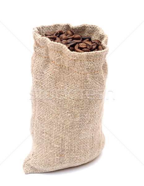 コーヒー豆 黄麻布 テクスチャ コーヒー ファブリック ストックフォト © inxti