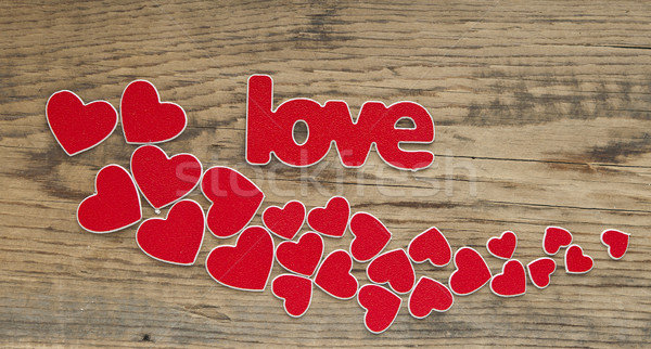 word love with heart shaped valentines day holiday background wi Stock photo © inxti