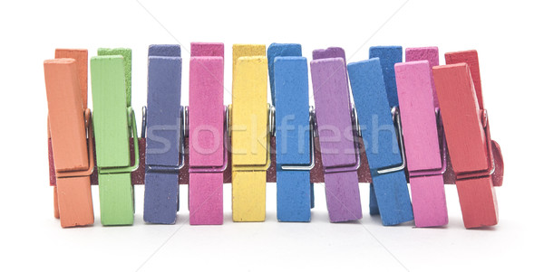 wood clothes pin colorful Stock photo © inxti