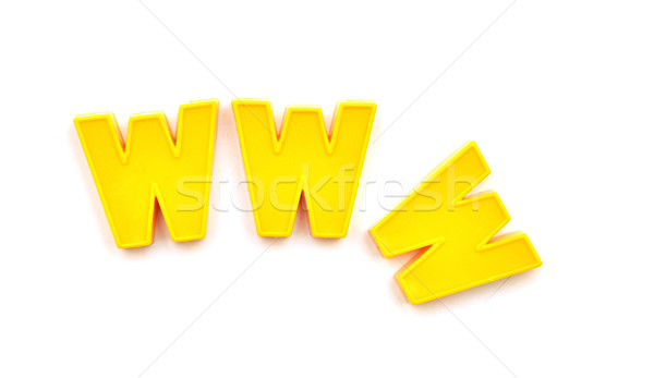 world wide web with plastic letters  Stock photo © inxti