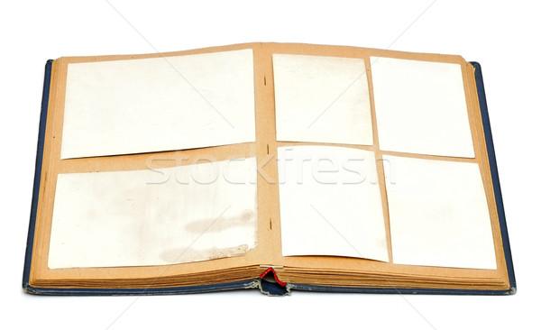 Eski bağbozumu kitap antika stil Stok fotoğraf © inxti