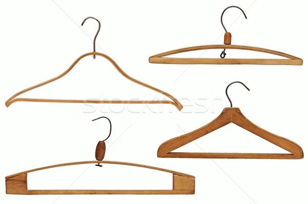 Zdjęcia stock: Ubrania · zestaw · odizolowany · biały · vintage · drutu