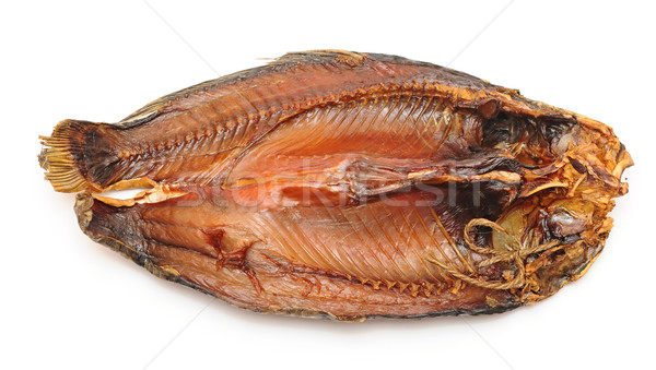 Stock photo: Smoked fish isolated on white background
