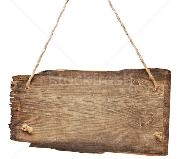 изолированный белый дороги древесины ретро Vintage Сток-фото © inxti