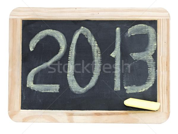 2013 geschreven klein schoolbord achtergrond Blackboard Stockfoto © inxti