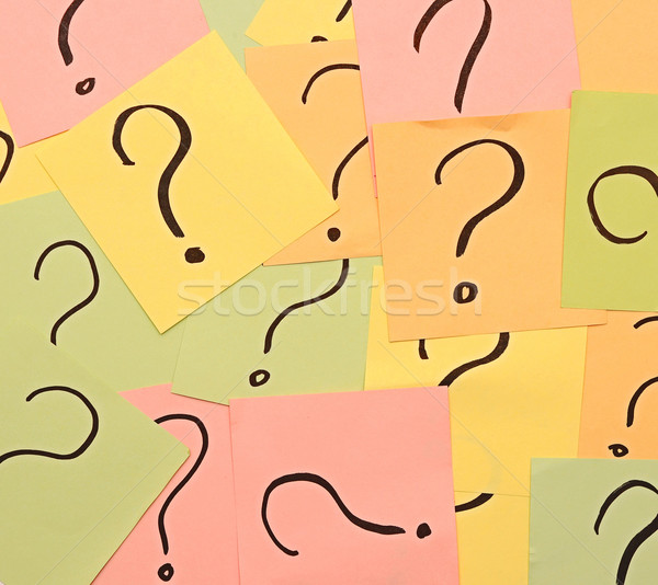 Close up too many question marks background  Stock photo © inxti