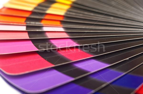Kolor przewodnik widmo tęczy biały Zdjęcia stock © inxti