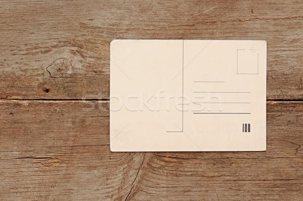 Blank vintage postcard Stock photo © inxti