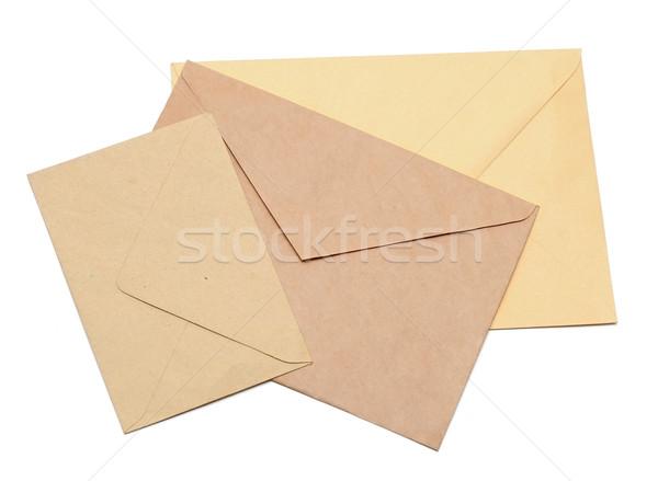 envelopes isolated on white  Stock photo © inxti