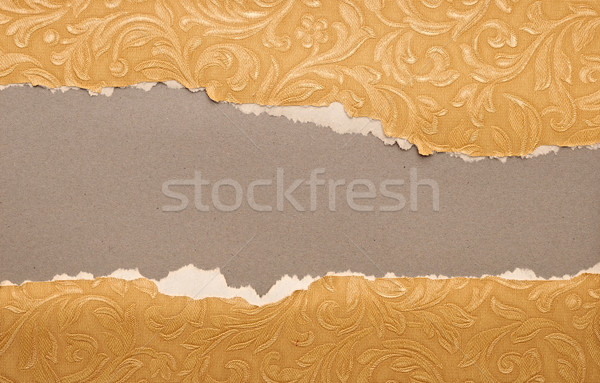 torn old paper texture, element for design Stock photo © inxti