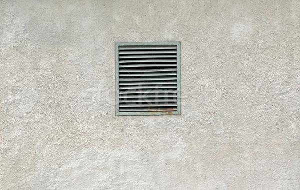Vecchio metal arrugginito ventilazione finestra grigio Foto d'archivio © inxti