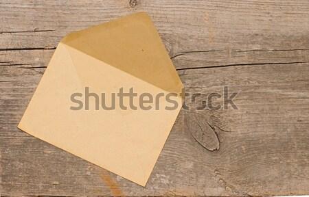 Foto d'archivio: Vecchio · busta · legno · copia · spazio · mail · bordo