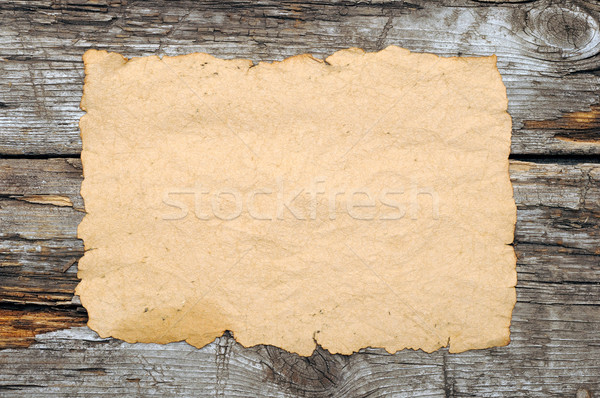 old papers on a wooden table Stock photo © inxti