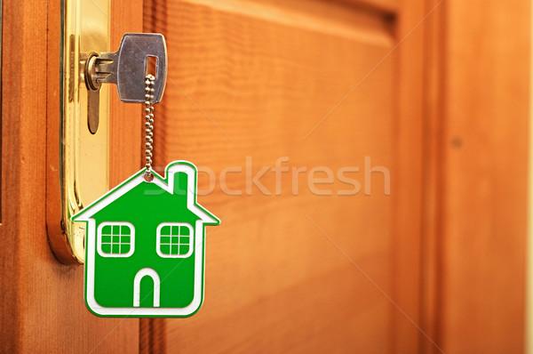 Símbolo casa vara chave buraco de fechadura família Foto stock © inxti