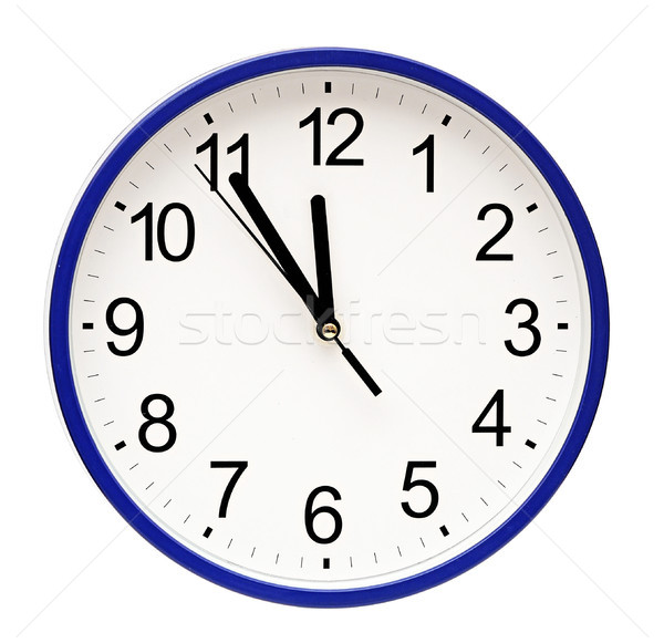 blue wall clock isolated on white Stock photo © inxti