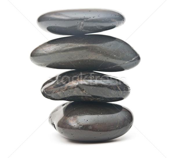 Echilibrare pietre izolat alb abstract sănătate Imagine de stoc © inxti