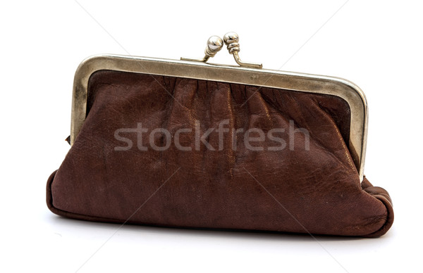 close worn-out purses isolated on white  Stock photo © inxti