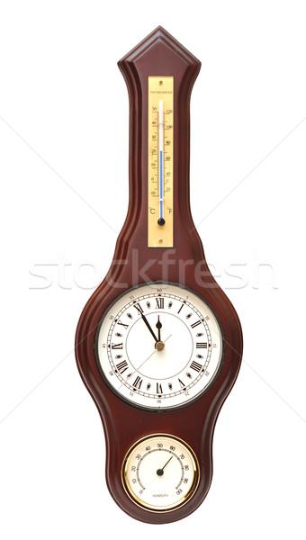 Foto stock: Vintage · reloj · blanco · arte · tiempo