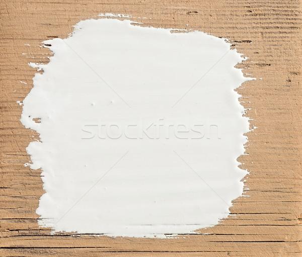 Stockfoto: Witte · verf · oude · houten · bouw · muur
