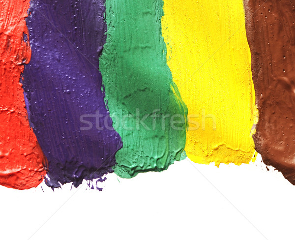 Colorful paint isolated on white background Stock photo © inxti