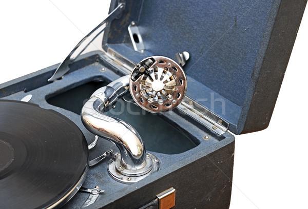 Retro eski gramofon oynama müzik konser Stok fotoğraf © inxti