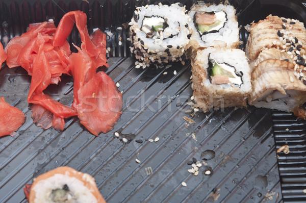 Tradizionale cibo giapponese sushi raccolta plastica finestra Foto d'archivio © inxti