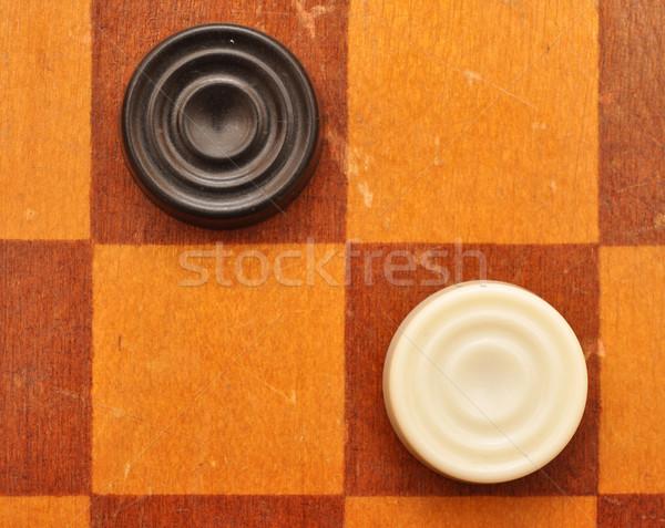 Checkers on board  Stock photo © inxti