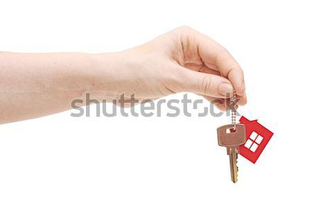 ключевые дома цепь стороны изолированный Сток-фото © inxti
