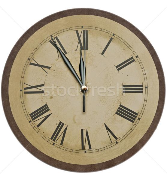öreg óra izolált fehér klasszikus számlap Stock fotó © inxti