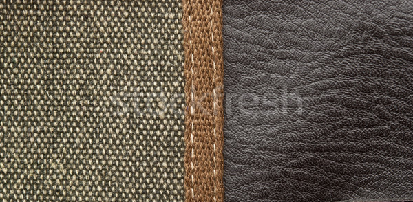 backgrounds of leather and fabric texture for design Stock photo © inxti