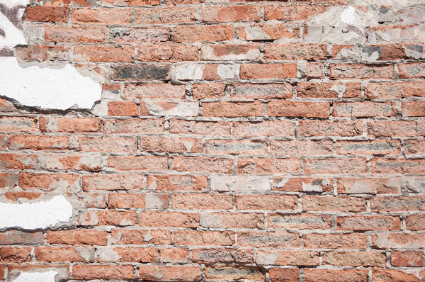 треснувший конкретные Vintage кирпичная стена текстуры город Сток-фото © inxti