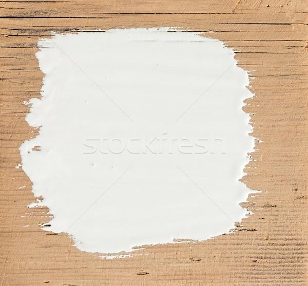 Stockfoto: Witte · verf · oude · houten · hout · werk