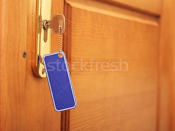Anahtar anahtar deliği etiket ofis dizayn ev Stok fotoğraf © inxti