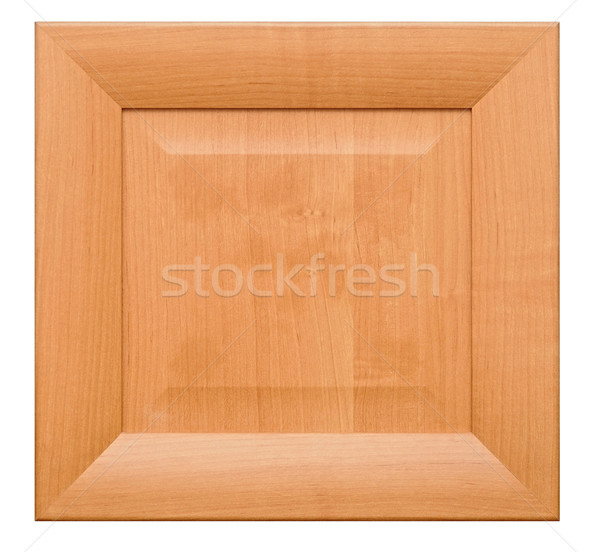 photo of wood frame for a picture, isolated on white Stock photo © inxti