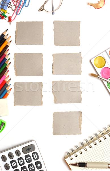 Heti naptár iroda stílus papír iskola Stock fotó © inxti