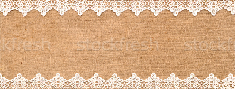 White lace on the sack background Stock photo © inxti