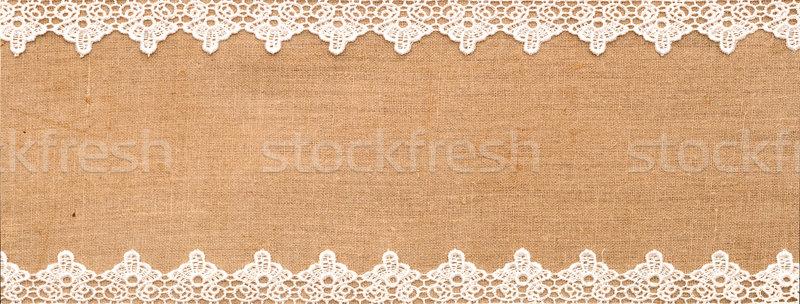 Weiß Spitze Sack Hintergrund Rahmen Muster Stock foto © inxti