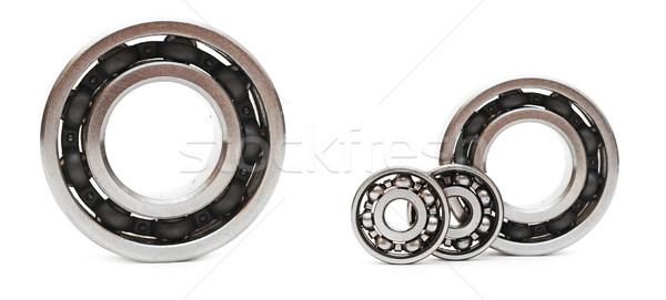 ball bearings on white background Stock photo © inxti