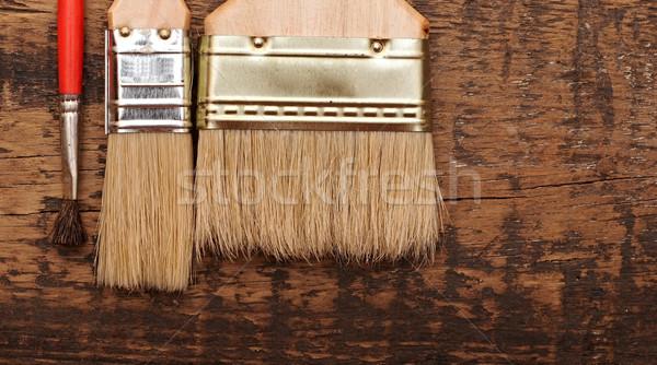 Сток-фото: щетка · текстура · древесины · служба · дома · школы · строительство