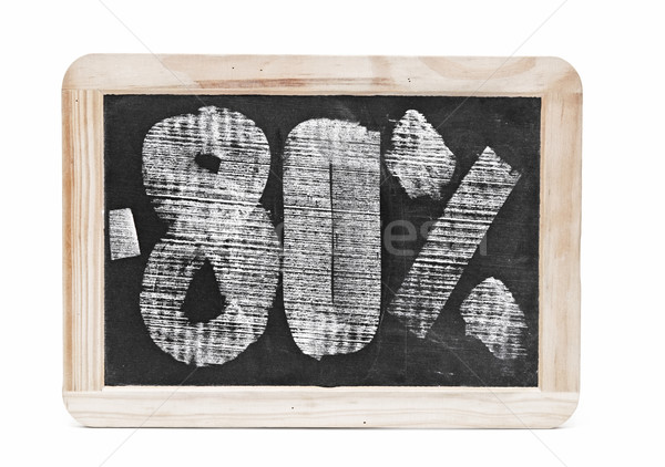 восемьдесят процент скидка написанный доске школы Сток-фото © inxti
