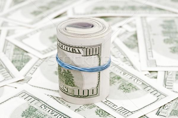 Geld amerikaanse honderd rollen dollar Stockfoto © inxti