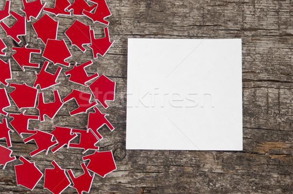 Muitos vermelho casa símbolo edifício Foto stock © inxti