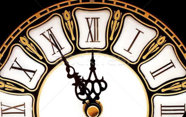 Time concept - vintage clock face on white Stock photo © inxti