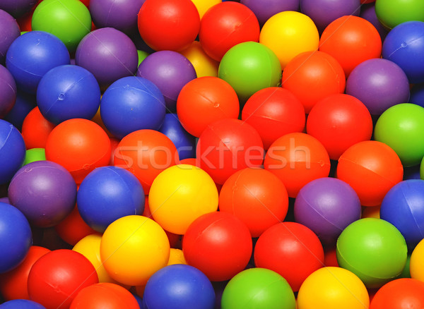 colorful plastic balls on children's playground Stock photo © inxti