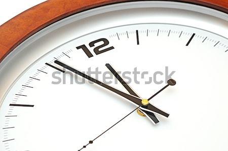 Parede relógio discar cara azul tempo Foto stock © inxti