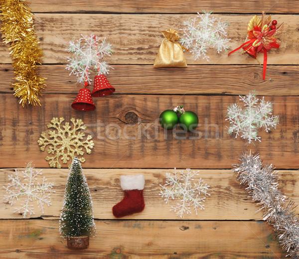 Natal decoração parede árvore madeira Foto stock © inxti